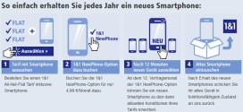 Neue Smartphone Optionen bei 1&1: NewPhone und Multi-Card