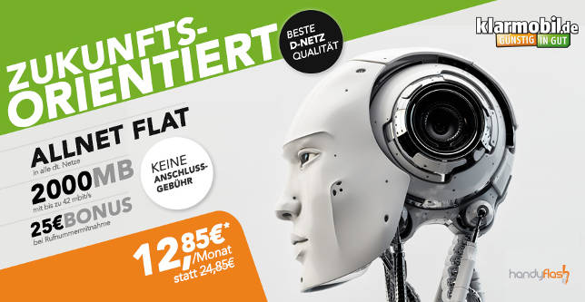 2GB Klarmobil Allnet Flat D1 Netz 12,85 Euro