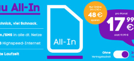 Blau All-in – Neue Allnet Flat mit etwas mehr Datenvolumen