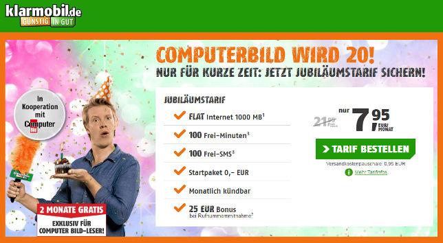 Computer Bild Jubiläumstarif Freimonate ohne Laufzeit