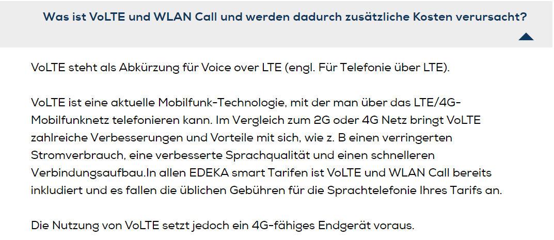 Keine zusätzlichen Kosten für WLAN Call und VoLTE