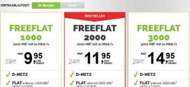 Freeflat 3000: Neuer Freenetmobile D-Netz Handytarif mit 3GB für 14,95 €