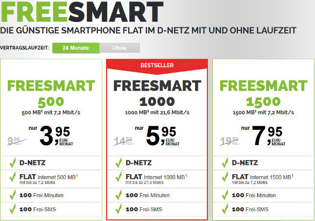Freenetmobile Freesmart Smartphone Flat