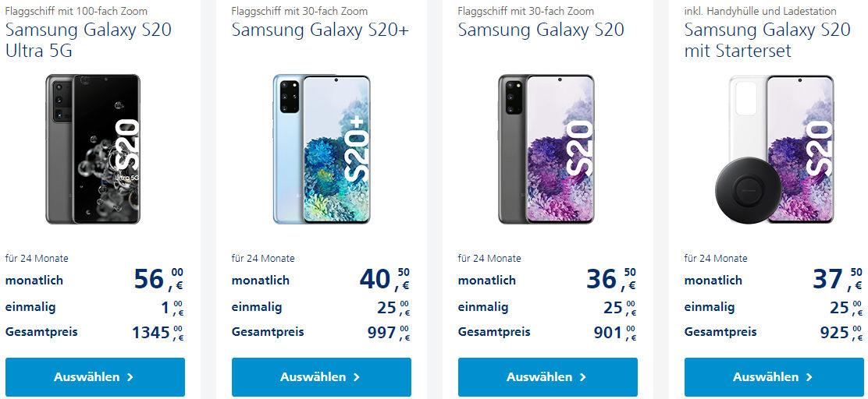 Galaxy S20 Plus Ultra 5G ohne Vertrag