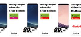 Media Markt: Galaxy S8 mit O2 Free Allnet Flat Vertrag ab 19,99 €