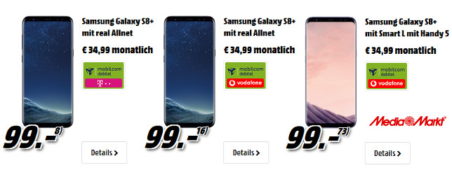 Galaxy S8 Handyvertrag