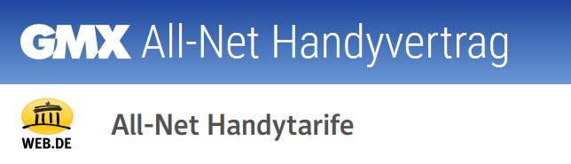GMX All-Net-Flat Handyvertrag