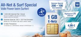 GMX All-Net & Surf Special jetzt mit 1GB & 300 Freiminuten ab 4,99 €