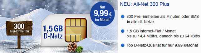 GMX WEB.DE All-Net 300 Plus Handytarif
