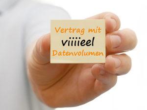 Handyvertrag mit viel Datenvolumen
