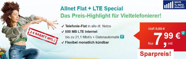 Hellomobil Drillisch Allnet Flat 7,99 Euro