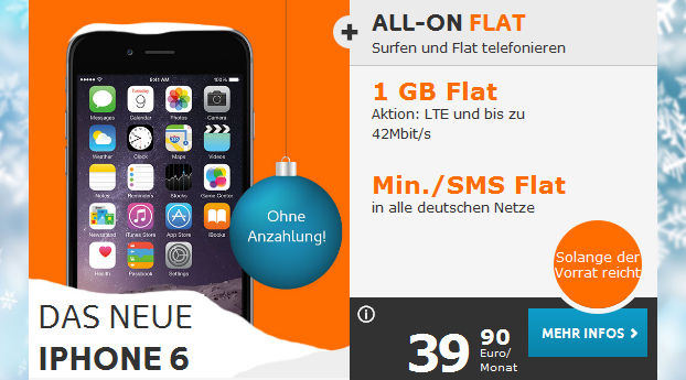 iPhone 6 Simyo Allnet-Flat