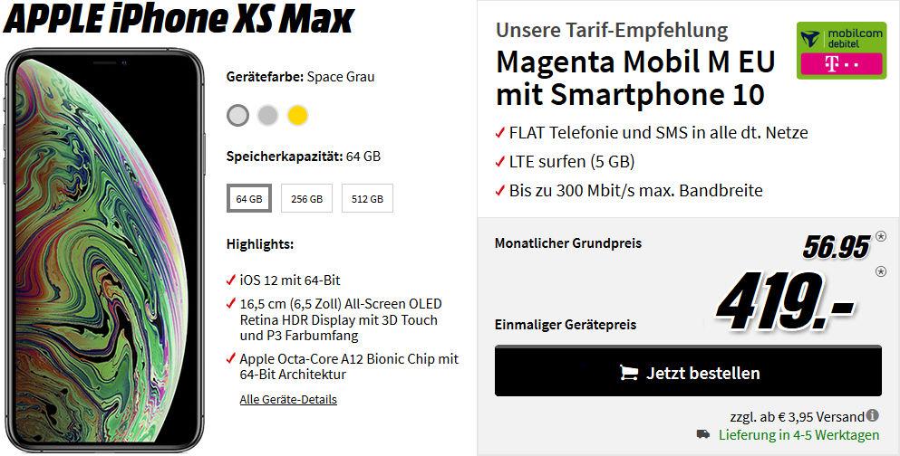iPhone Xs Max Allnet Flat Vertrag