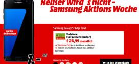 Saturn: Galaxy S7 Edge oder S8+ mit 2GB D2 Allnet Flat für 29,99 €