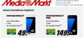 Media Markt: Samsung Galaxy S7 + 1GB D-Netz Allnet Flat für 19,99 €