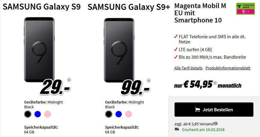 Saturn Media Markt Galaxy S9 Plus Telekom Allnet Flat Vertrag