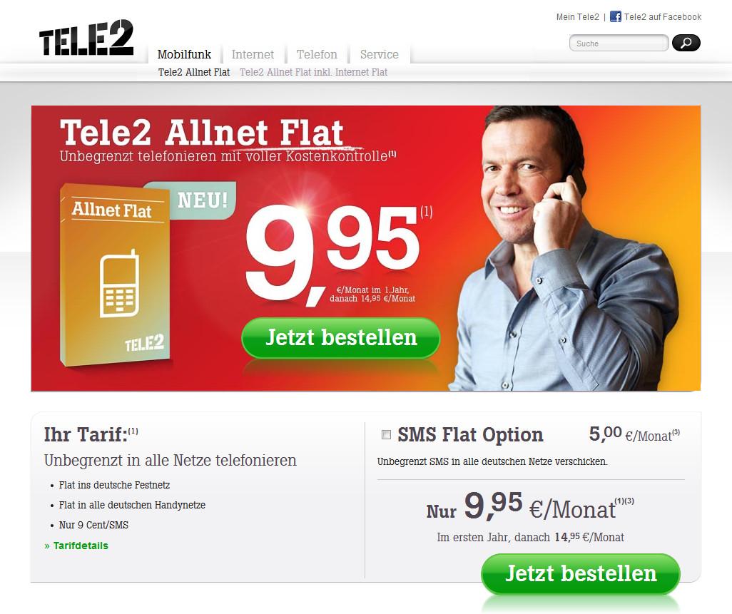 Tele2 Allnet Flat Mit Und Ohne Internet Vertrag Trotz Negativer Schufa
