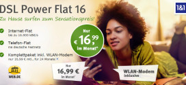 WEB.DE - 1&1 DSL Power Flat 16